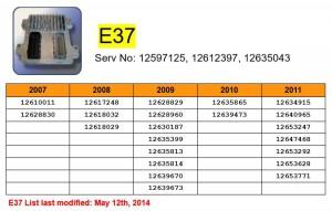 E37 Compatability