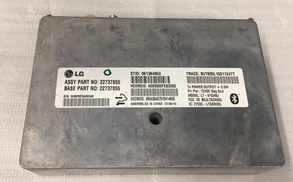 Gm Bluetooth Vcim Onstar Module 2273785